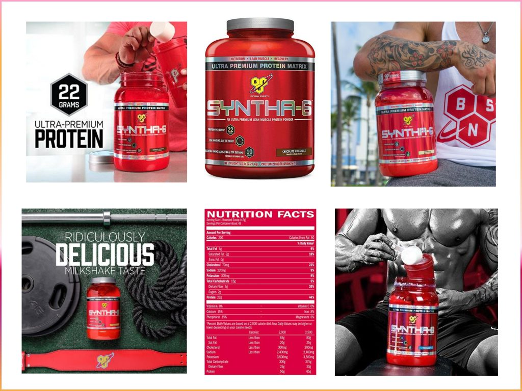 BSN SYNTHA 6 Protein Powder nutrition Facts
