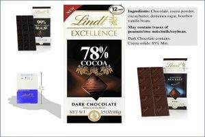 Lindt Excellence Bar, 70% Cocoa Smooth Dark Chocolate