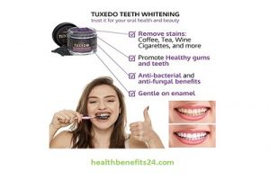 Tuxedo Teeth Whitening Activated Charcoal Powder