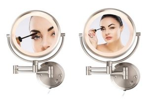 Conair BE6BX Double Sided Lighted 8X Magnification Fog-Free Wall Mount Mirror