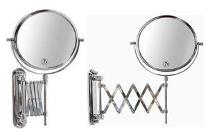 DecoBros 8-Inch Two-Sided Extension Wall Mount Mirror
